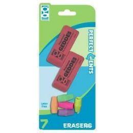 48 Units of Pink Eraser-Cap Eraser Combo 7 ct - Erasers