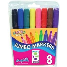 48 Units of Fully Washable 8ct Broad-Tip Markers - Markers and Highlighters