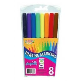96 Units of Fully Washable 8ct Fine Line Marker - Markers and Highlighters