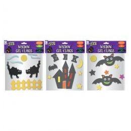 72 Units of Halloween Window Gel Clings - Halloween & Thanksgiving