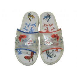 48 Units of Ladies' Ribbon Design Jelly Sandal - Women's Sandals