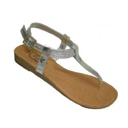 18 Units of Ladies Beaded Ankle Thong Sandal - Women's Sandals