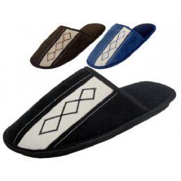 36 Units of Men's Velour Bed Room Slipper - Men's Slippers