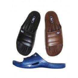 36 Units of Mens Super Cumfy Slide In Sandale - Men's Flip Flops and Sandals