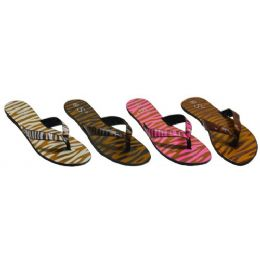 48 Units of Ladies Animal Print Sandal - Women's Sandals