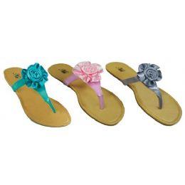 24 Units of Ladies T Design Floral Sandal - Women's Sandals