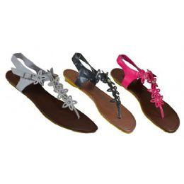 24 Units of Ladies Floral Strap Sandal - Women's Sandals