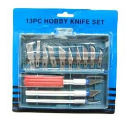 72 Units of Hobby Knife Set 13 Pc In Case - Hardware Miscellaneous