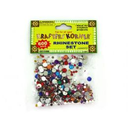 75 Units of 600 Piece Rhinestone Set (assorted Colors) - Rocks, Stones & Sand