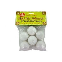 72 Units of Foam Craft Balls - Foam & Felt