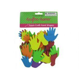 72 Units of Foam Craft Hand And Feet Shapes - Foam & Felt