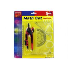 72 Units of 5 Piece Math Ruler Set - Rulers
