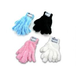 36 Units of adult feather gloves assorted colors - Knitted Stretch Gloves