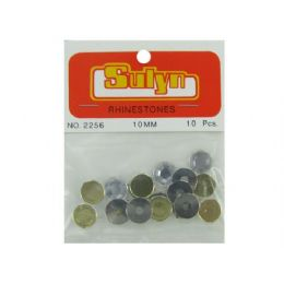 144 Units of Green Rhinetones, Pack Of 10 - Craft Beads