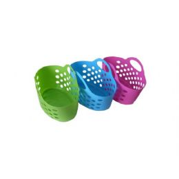 36 Units of Plastic storage basket, assorted bright colors - Food Storage Containers