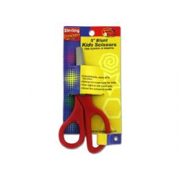 72 Units of 5 Inch Blunt Kids Scissors - Scissors and Tweezers