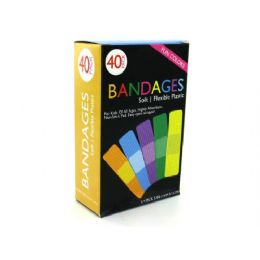 72 Units of Fun Color Bandages - Bandages and Support Wraps