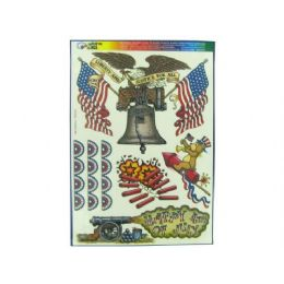 180 Units of Liberty and justice window clings - Stickers