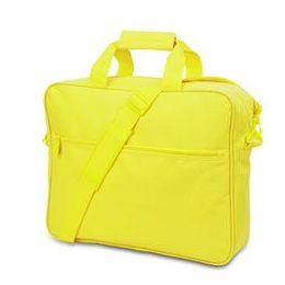 24 Units of Convention Briefcase - Safety Green - Lunch Bags & Accessories
