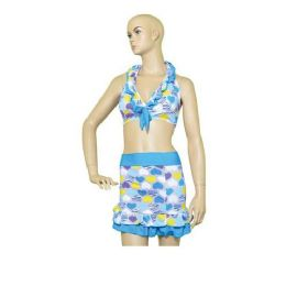 72 Units of Woman Swim Suit 3 Piece set Print - Womens Swimwear