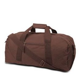 12 Units of Large Square Duffel - Brown - Duffel Bags