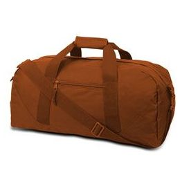 12 Units of Large Square Duffel - Burnt Orange - Duffel Bags