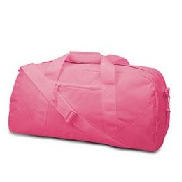 12 Units of  Large Square Duffel - Hot Pink - Duffel Bags