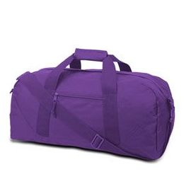 12 Units of Large Square Duffel - Lavender - Duffel Bags