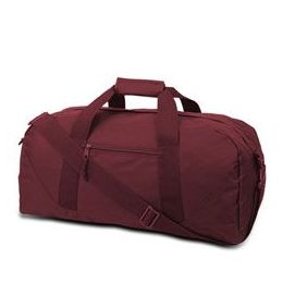 12 Units of  Large Square Duffel - Maroon - Duffel Bags