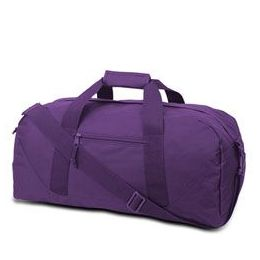 12 Units of Large Square Duffel - Purple - Duffel Bags