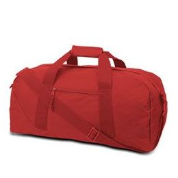 12 Units of  Large Square Duffel - Red - Duffel Bags