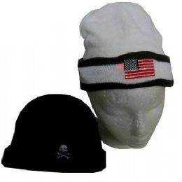 96 Units of Flashing Novelty Winter Hats And Beanies - Winter Beanie Hats