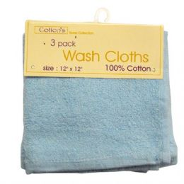 72 Units of Wash Cloth 12x12 3PK - Bath Towels
