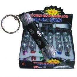 96 Units of 5 LED Keychain w/ Display - Flash Lights