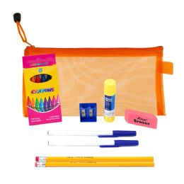 48 Units of 9 Piece Wholesale Kids School Supply Kit - School and Office Supply Gear