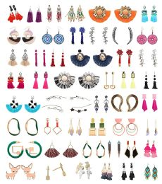 48 Units of Earrings Bulk Lot Sterling Silver Stainless Steel Jewelry Many Styles And Colors - Earrings