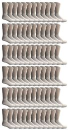 240 Units of Yacht & Smith Women's Premium Cotton Crew Socks White Size 9-11 - Womens Crew Sock