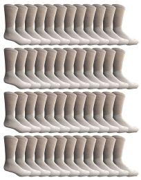 60 Units of Yacht & Smith Kids Premium Cotton Crew Socks White Size 6-8 - Boys Crew Sock