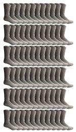 72 Units of Yacht & Smith Kids Cotton Crew Socks Gray Size 6-8 - Boys Crew Sock