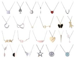 48 Units of Yacht & Smith Lot Of Sterling Silver /Stainless Steel Necklaces, Great Valentines Gift - Necklace