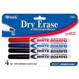 24 Units of Asst. Color Fine Tip Dry-Erase Marker (4/Pack) - Markers and Highlighters