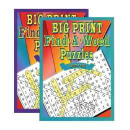 48 Units of Big Print Find-A-Word Puzzles Book - Crosswords, Dictionaries, Puzzle books