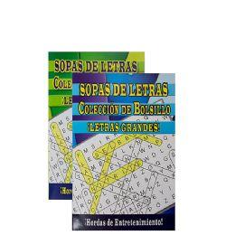 48 Units of Crucigrama-Sopas De Letras Digest Size - Crosswords, Dictionaries, Puzzle books