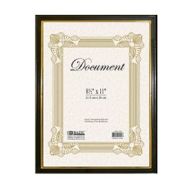 "48 Units of 8.5"" X 11"" Document Frame W/ Gold Border - Picture Frames"