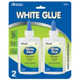 24 Units of 4 Oz. (118ml) White Glue (2/pack) - Glue Office and School