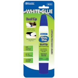 12 Units of 1 Oz. (29.5ml) Dual Tip White Glue - Glue Office and School