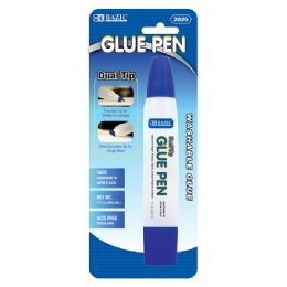24 Units of 1 Oz. (29.5ml) Dual Tip Glue Pen - Glue Office and School