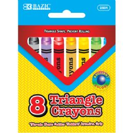24 Units of 8 Color Premium Quality Super Jumbo Triangle Crayon - Chalk,Chalkboards,Crayons