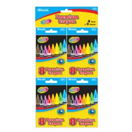 24 Units of 8 Color Premium Quality Crayon (4/Pack) - Chalk,Chalkboards,Crayons