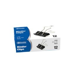 """12 Units of Large 2"""" (51mm) Black Binder Clip (12/box) - Clips and Fasteners"""